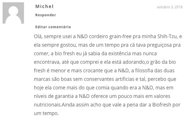 opinião do leitor sobre a Biofresh