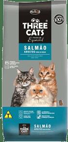 ração three cats é boa