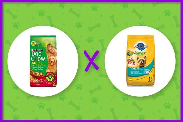 ração Dog Chow ou Pedigree