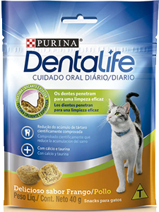 petisco Nestlé Purina DentaLife para Gatos